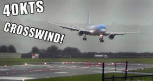 Как посадить пассажирский самолет боком?