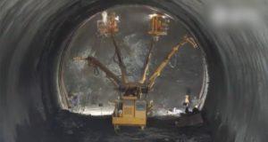 Как прокладывают туннели для высокоскоростной ЖД-магистрали: видео