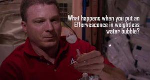 Видео: шипучая таблетка в невесомости