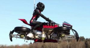 Французы показали испытания летающего мотоцикла