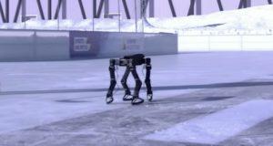 Робот, умеющий кататься на коньках: видео