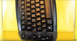 Что будет, если опустить клавиатуру в ацетон: 70-часовой таймлэпс