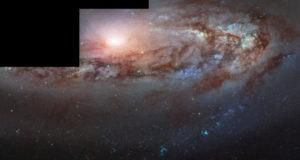 Галактика, приближающаяся к Млечному Пути: удивительной снимок «Хаббла»