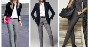 С чем носить серые женские брюки: сочетания и особенности