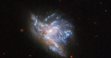 «Хаббл» заснял слияние галактик