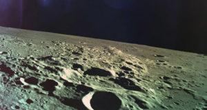 Финальная фотография, сделанная израильским лунным зондом
