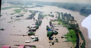 Кадры катастрофического наводнения в Иркутской области