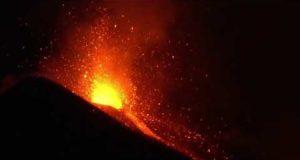 Как извергается Этна