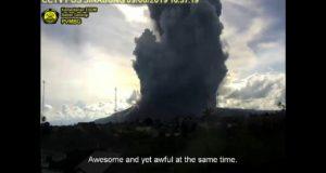 Как началось извержение вулкана Синабунг. Индонезия, июнь 2019 года