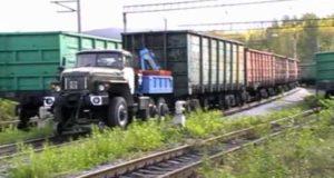 Как поставить грузовик на рельсы