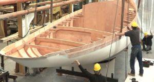 Как строится современная деревянная яхта