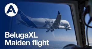 Первый полет Airbus BelugaXL: видео