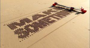 Робот, печатающий и рисующий на песке
