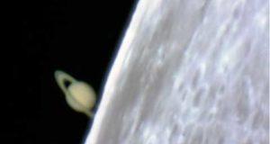 Затмение Сатурна Луной